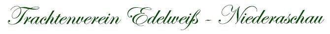 Trachtenverein Edelweiß Niederaschau Logo